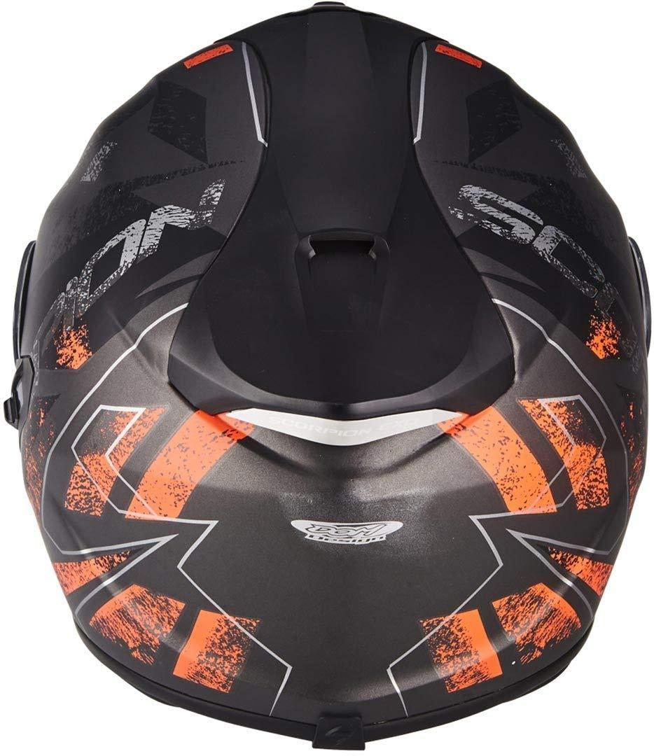 Scorpion casco moto exo-1400 air picta opaco argento-verde m