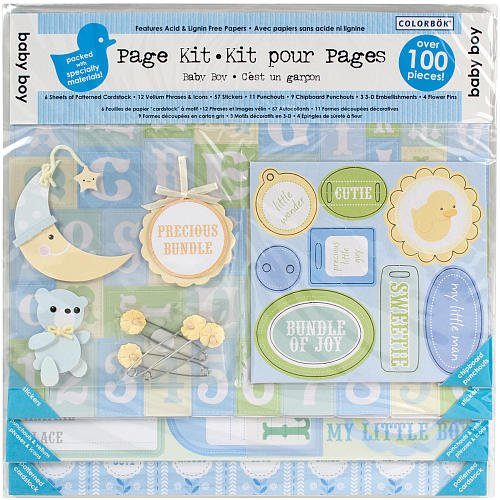 Colorbok Baby Boy 12x12 Scrapbooking Page Kit