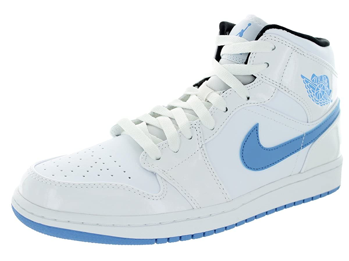 White, legend bluee Nike - AIR JORDAN 1 MID
