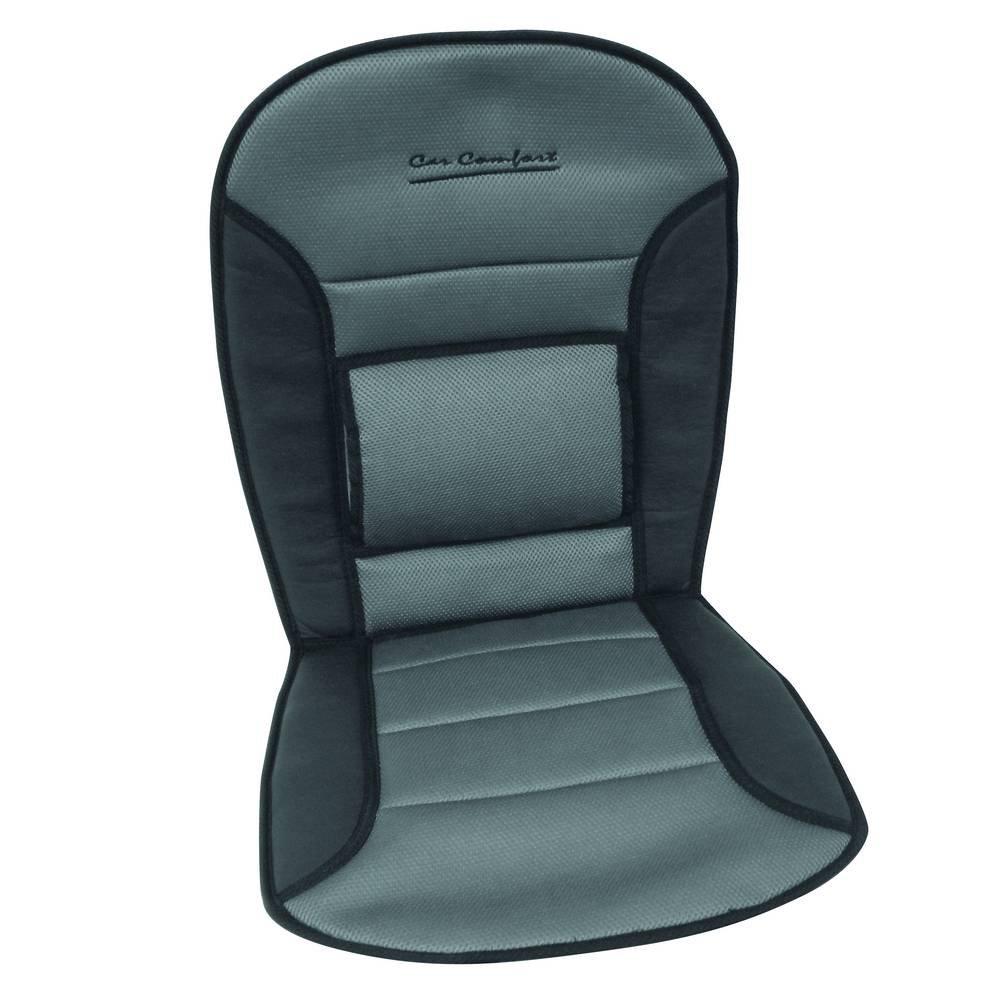 CARPOINT 0323276 Cuscino per Sedile Comfort Nero//Grigio