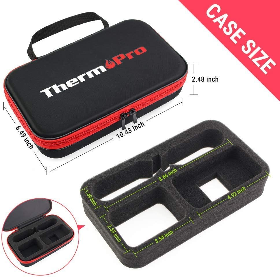 Digital TP99 Carrying Case ThermoPro TP20 Digital Wireless Remote Dual Probe Thermometer TP19H Digital Instant Read Thermometer