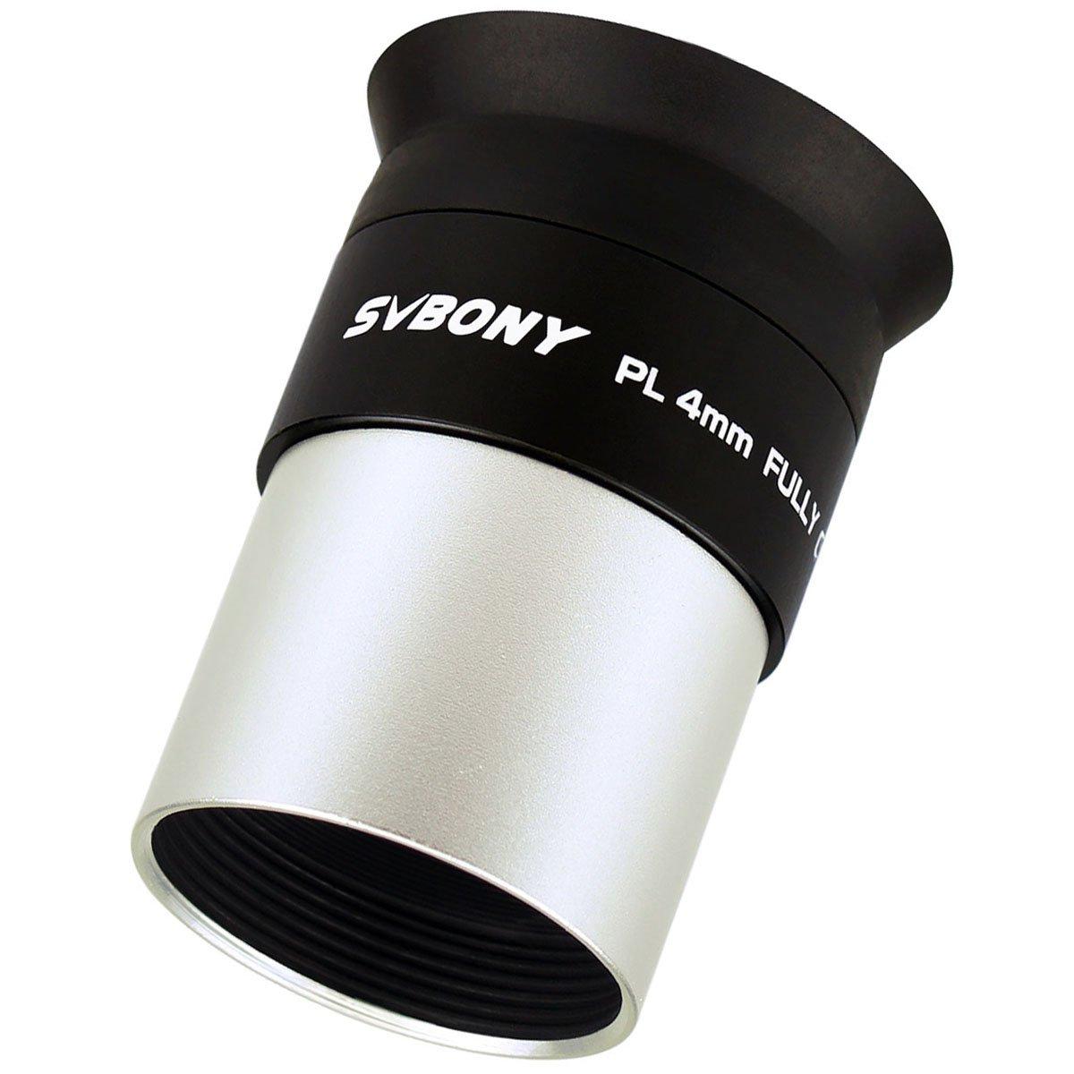SVBONY Telescopes Eyepieces 1.25'' Lens 4mm Multi Coated Telescope Lens 48 Degrees FOV Long Eye Relief for Celestial Nebula Observations