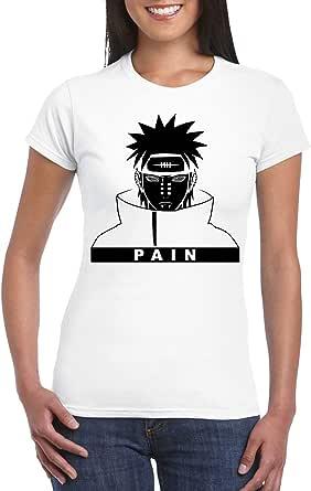 White Female Gildan Short Sleeve T-Shirt - Pain/Name design