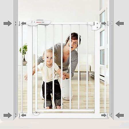 Barrera Seguridad Puerta para Niños Extra Alta Y Ancha para Puertas O Entre Habitaciones, Puerta para Mascotas De Seguridad con Cierre Automático - 29.5