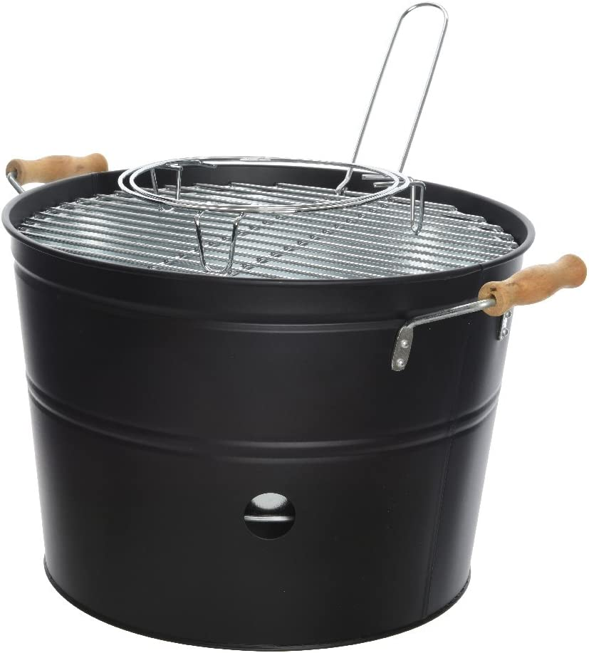 Time for Home 'Barbecue BBQ Seau barbecue Acier Barbecue au
