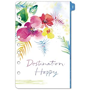 """Kathy Davis for Day-Timer 2020 Weekly Planner/Appointment Book Refill, 5-1/2"""" x 8-1/2"""", Desk Size 4, Two Pages Per Week, Loose Leaf (52122)"""