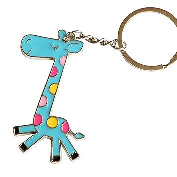 viawow azul jirafa bolso encanto llavero llavero Coche ...