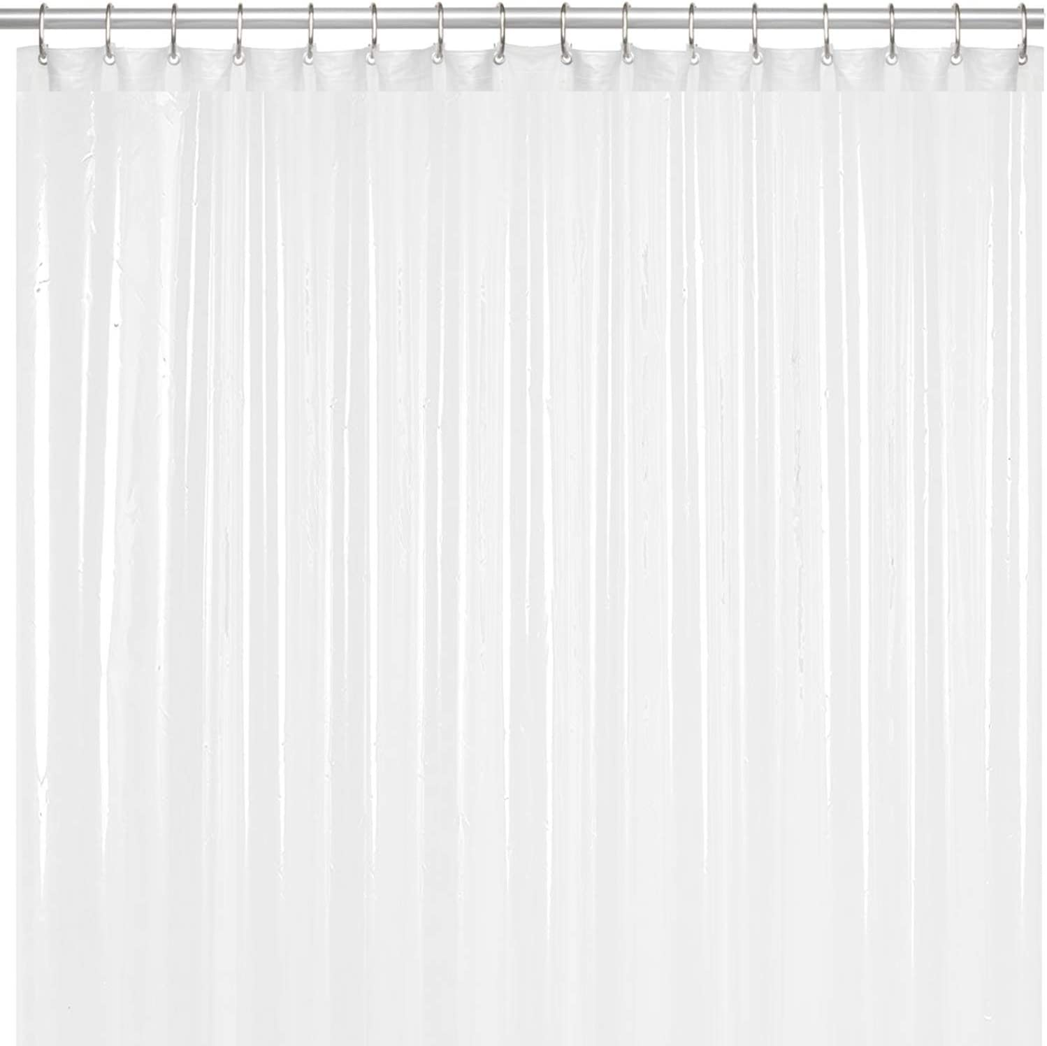 LiBa Mildew Resistant Anti-Microbial PEVA 8G Shower Curtain Liner (36x72, White)