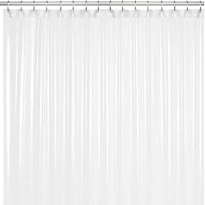 LiBa Mildew Resistant Anti-Microbial PEVA 8G Shower Curtain Liner (72x72, White)