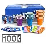Kit Borbone 100 pièces gobelets à café, bâtons sticks, sucre