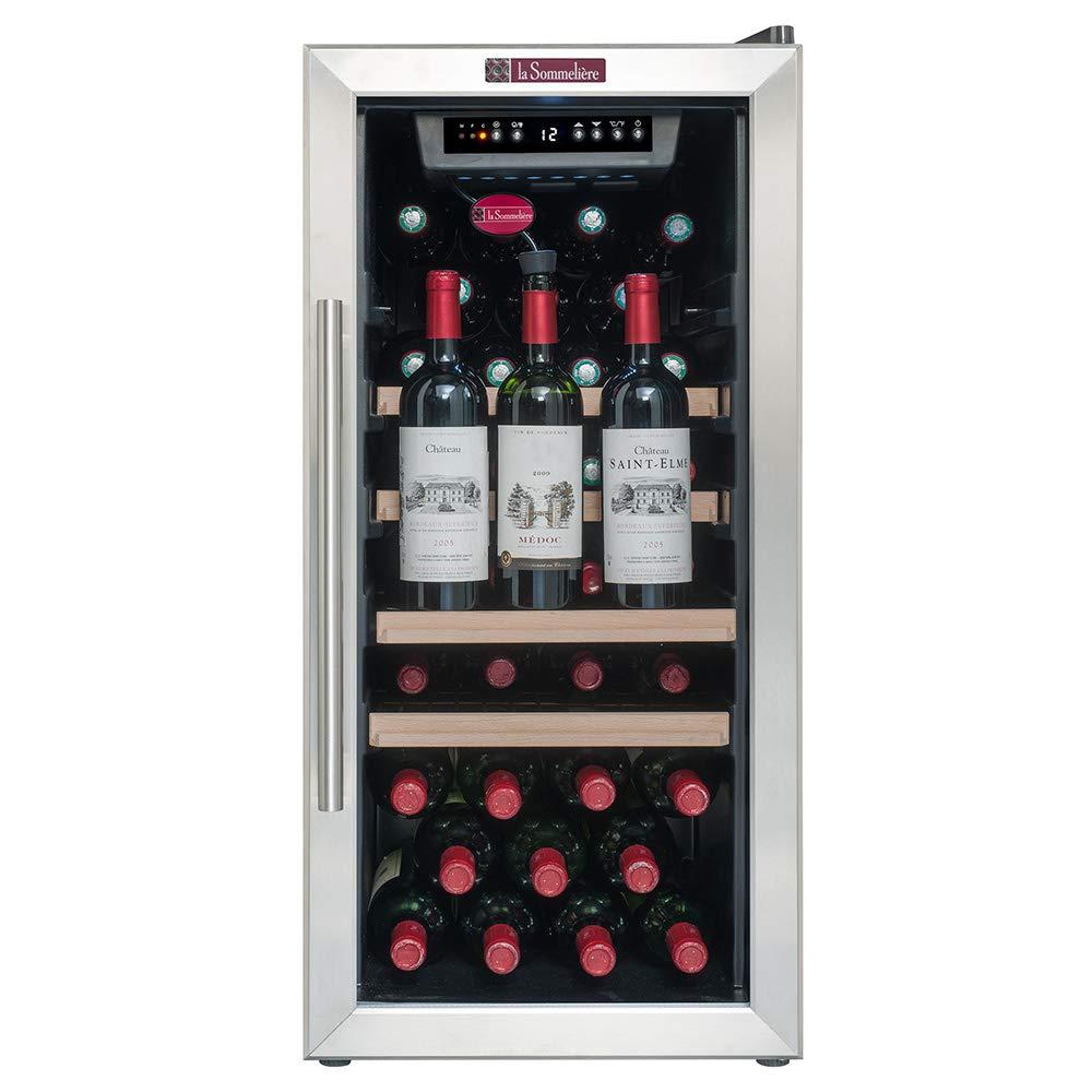 La Sommeliere LS38A Cave à Vin de mise à température - 38 bouteilles - Système de préservation de 3 bouteilles ouvertes intégré - Faible encombrement Classe: A La Sommelière 3541361605208