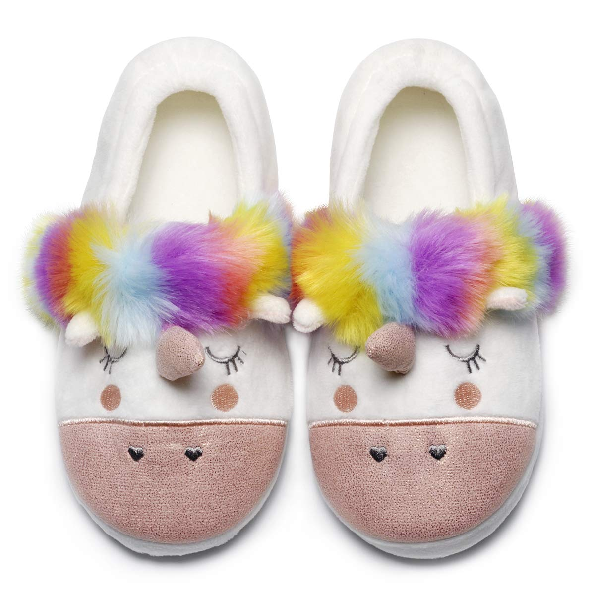 3f561be166 Womens Unicorn Slippers |Cute Funny Slippers for Family| Kids Girls Animal  House Shoes