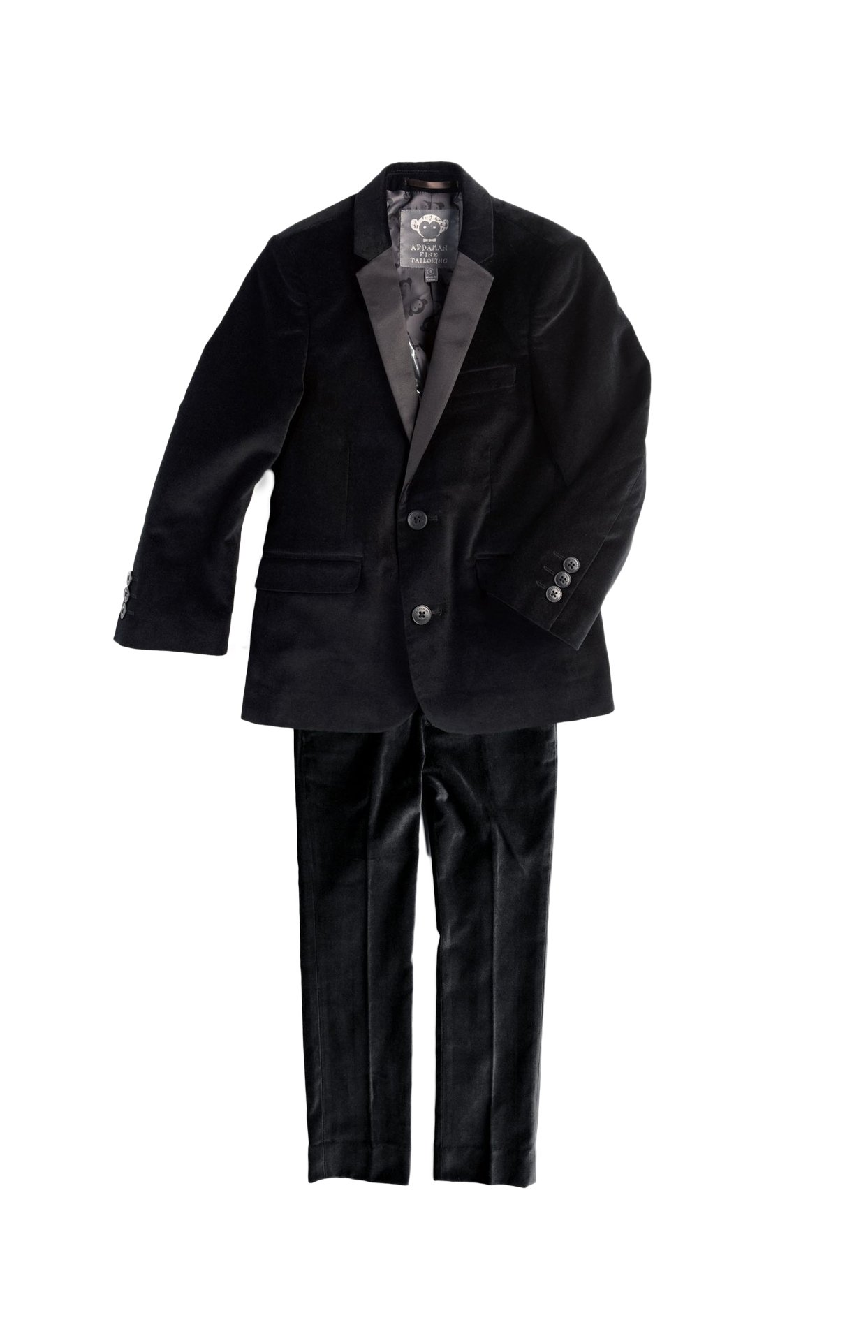 Appaman Kids Baby Boy's Two-Piece Velvet Mod Suit (Toddler/Little Kids/Big Kids) Black Velvet 8