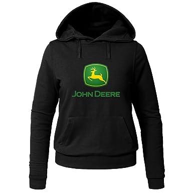 bajo precio df1a1 69485 John Deere Hoodies - Sudadera con Capucha - para Mujer Negro ...