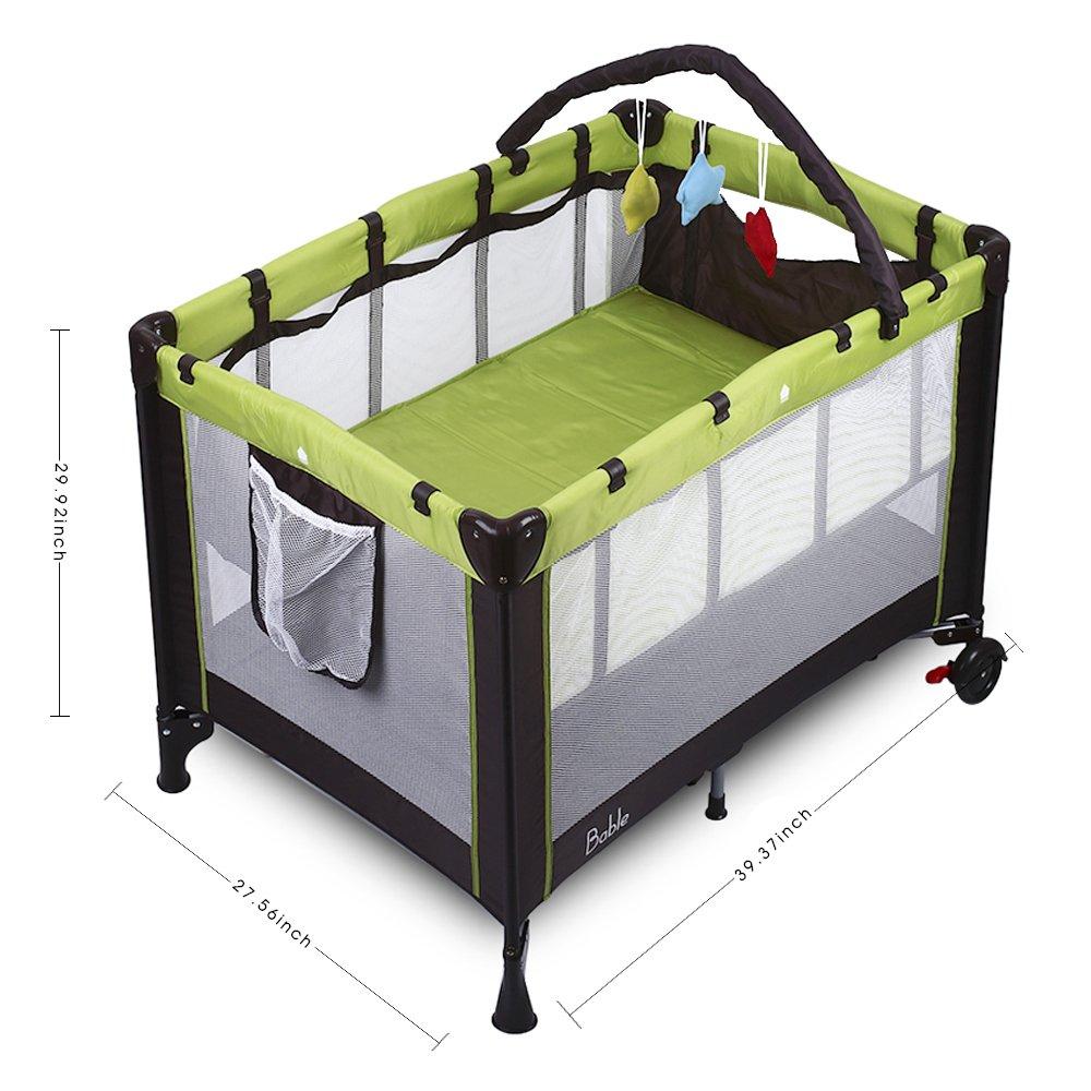 BABLE BB-P1 Babybett Kinder Reisebett fürs Baby Playard Klappbett ...