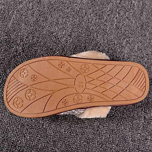Portare Di Casa Adatto Donna Lino Stampate A Uomo Pantofole Interno Da 39 Calde Per 40 wzqf1x