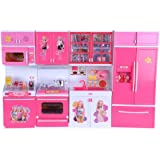 JVM Dream House Kids Luxury Battery Operated Kitchen Super Set With Light And Sound Carry Case (4 Pcs)