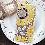 "iPhone 6/6S Case,Blingy's Beautiful Flower Pattern Series Soft Rubber Clear TPU Case for Apple iPhone 6/6S (4.7"" screen) (Painted Sunflower)"