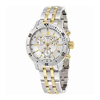 b9addf97c Image Unavailable. Image not available for. Color: Tissot Men's  T0674172203100 PRS 200 Silver Chronograph Dial Watch