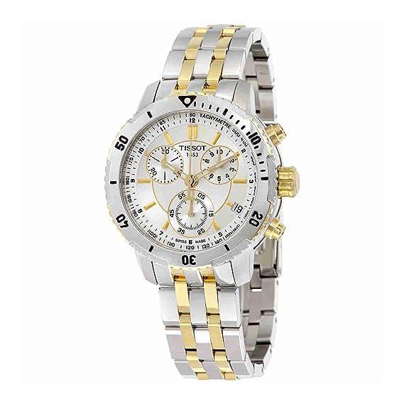 Tissot T0674172203100 - Reloj cronógrafo de caballero de cuarzo con correa de acero inoxidable multicolor: Amazon.es: Relojes