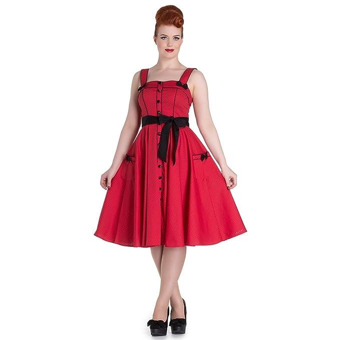 Hell Bunny - Vestido - Noche - para Mujer Rojo XS