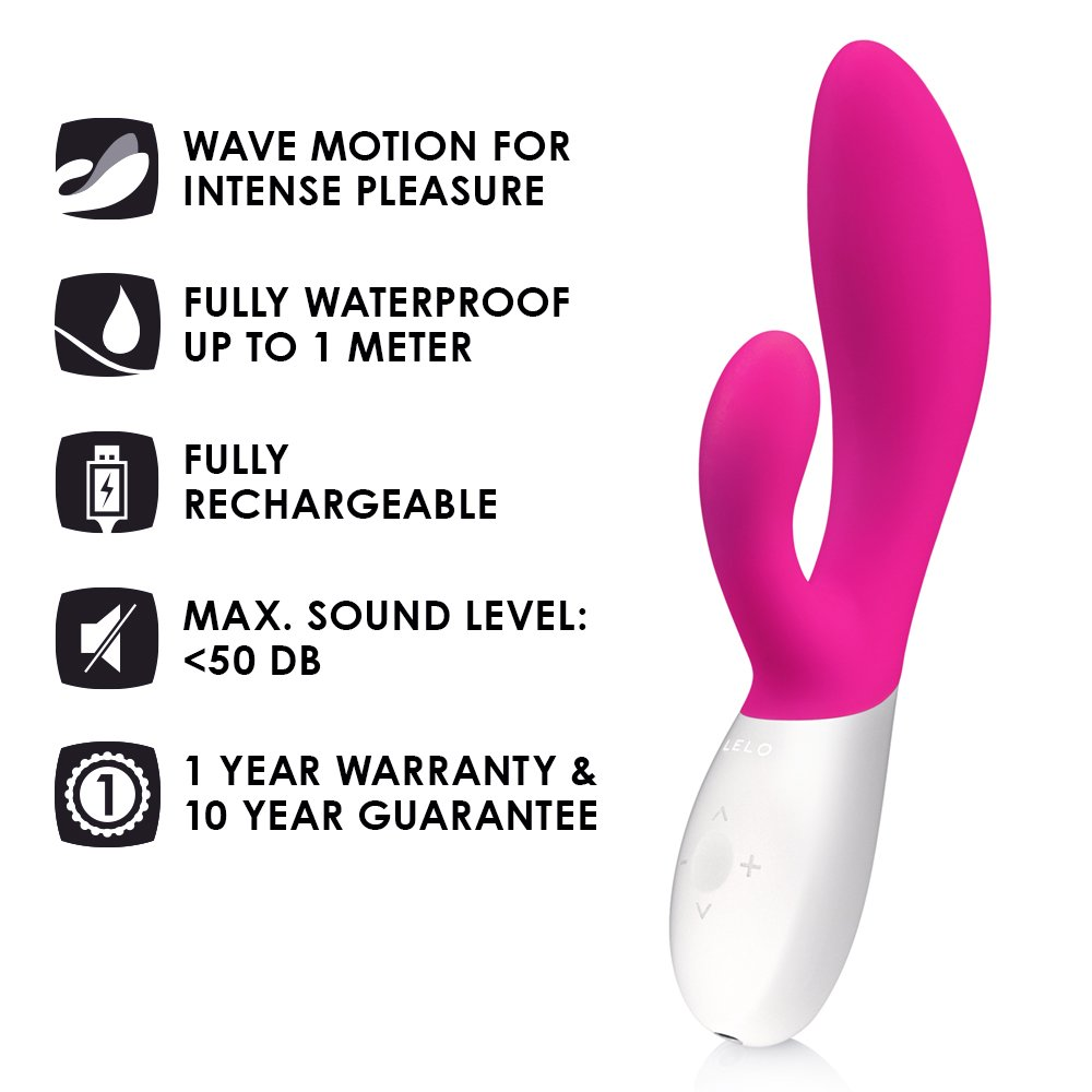 LELO INA Wave Dual-Action, G-Spot and External Massage Vibrator with Motion Movement, Cerise by LELO (Image #2)