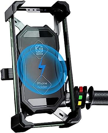 Motorrad Handyhalterung 2 In 1 Qi Drahtloses Und Qc Elektronik