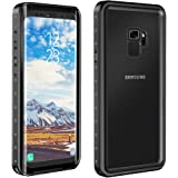 Eonfine Samsung Galaxy S9 Waterproof Case, Shockproof Protective Underwater Cover for Samsung Galaxy S9 Black