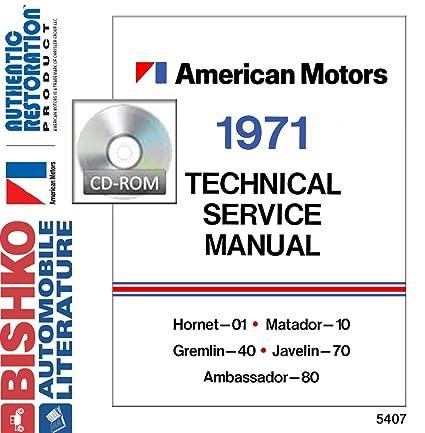 image unavailable  image not available for  color: bishko automotive  literature 1971 amc hornet matador gremlin shop service repair manual