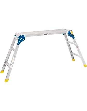 Draper 83998 3 paso plataforma de trabajo de aluminio, color plateado