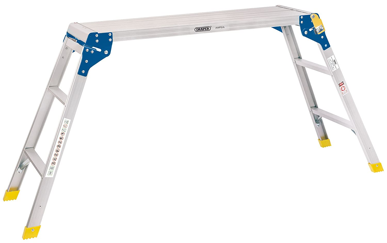 Draper 83998 3 Step Aluminium Working Platform, Silver