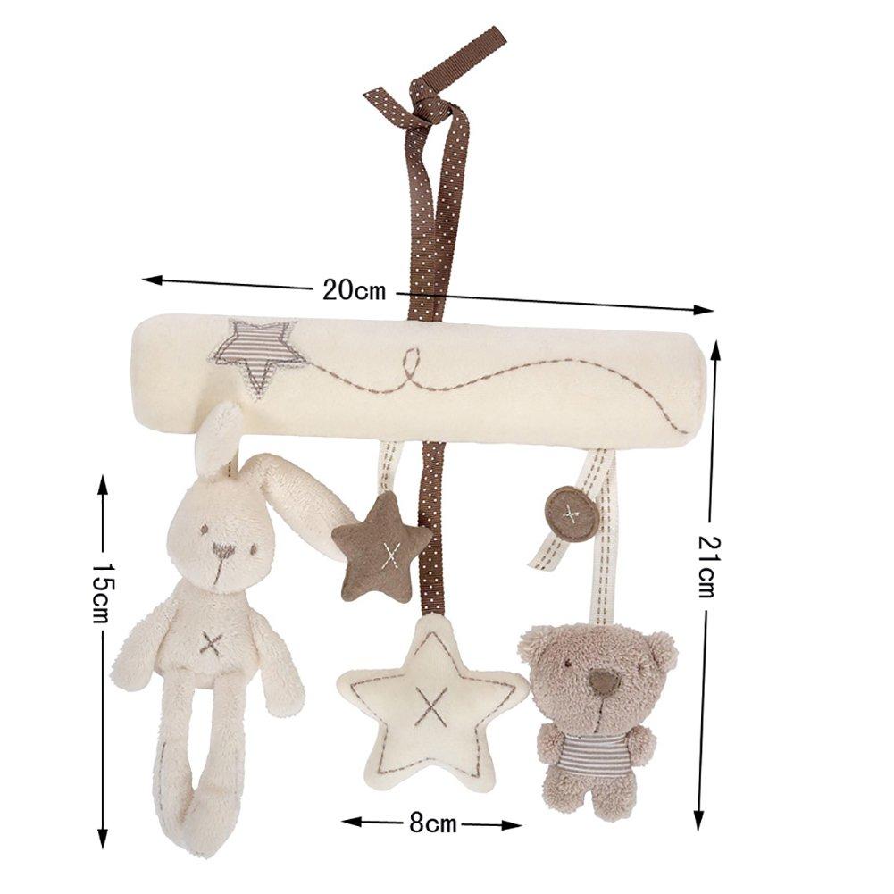 Aikesi Colgante Cochecito Beb/é con Forma de Conejo y colgado Cuna Colgante Juguetes para beb/és Juguete Giratorio de m/úsica