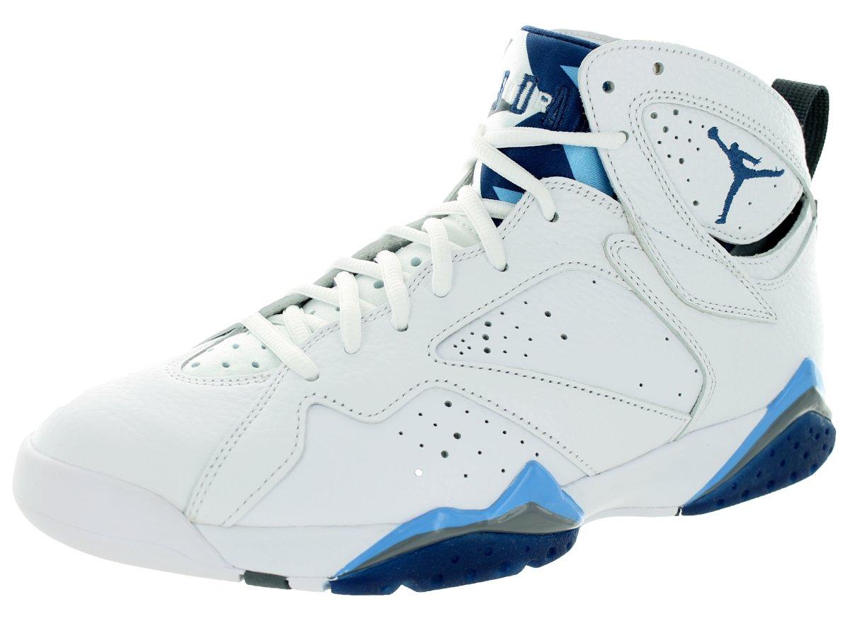Nike Herren Air Jordan 7 Retro Turnschuhe, Schwarz, 48.5 EU  49 EU|Wei? / Blau (Wht / Frnch Bl-unvrsty Bl-flnt G-)