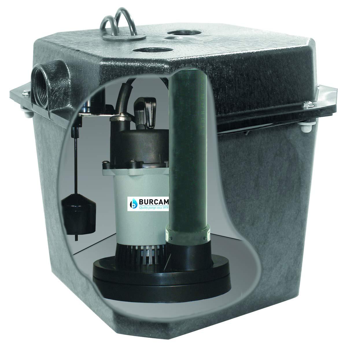 BURCAM 300319B 1/4 HP Automatic Under Sink Pump System