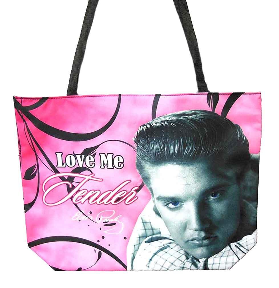Elvis Presley Love Me Tender Collection Large Bag (Pink Tote)