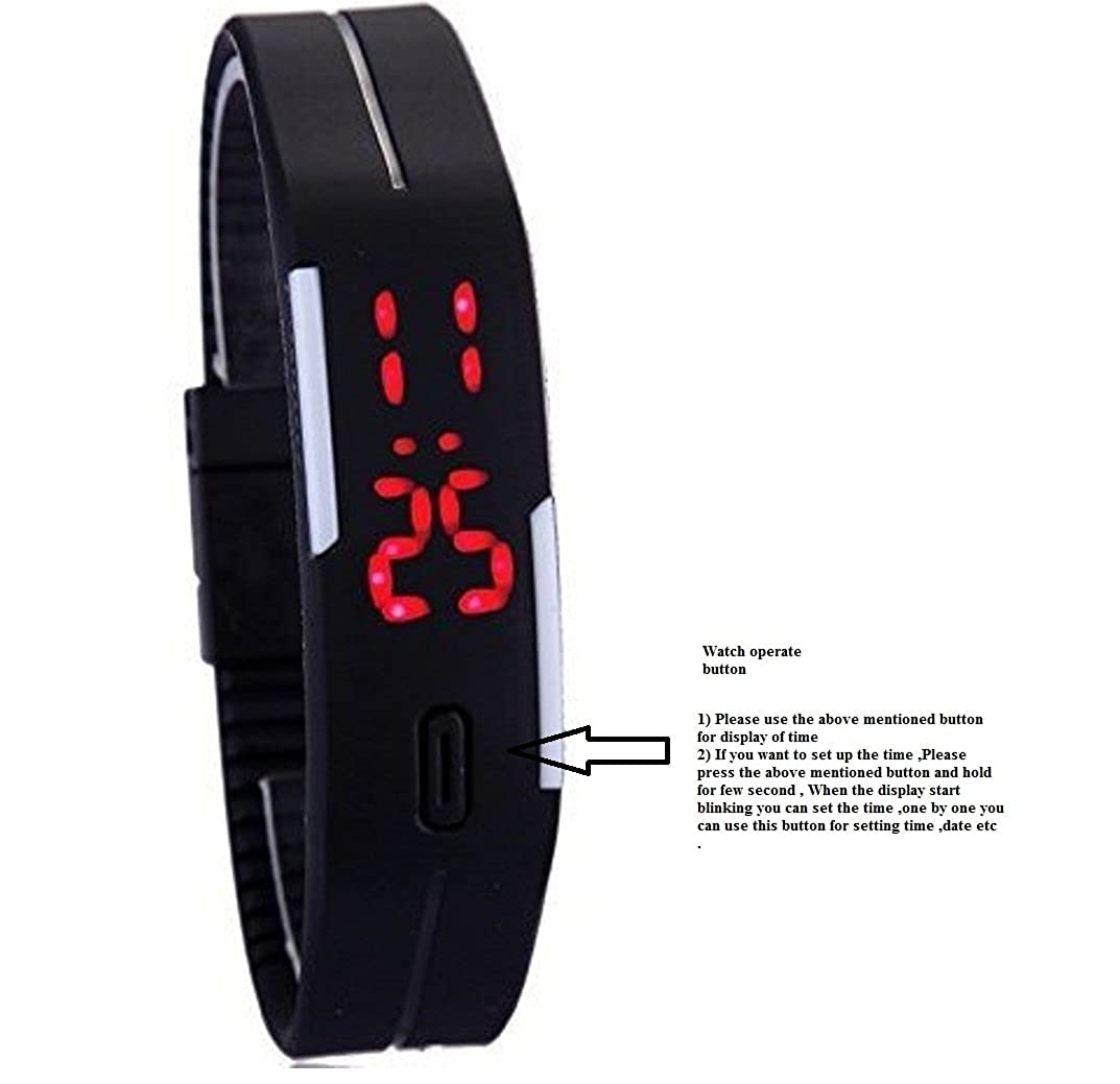 f5af85a47 Buy Glitter Collection Led Digital Watches Jelly Blue Wristwatch Magnet Lock  - Blue Online at Low Prices in India - Amazon.in