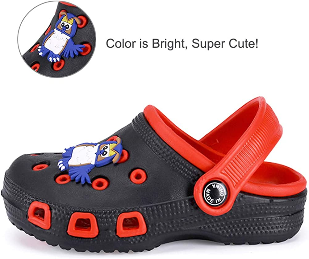 Toddler//Little Kid Babelvit Boys Girls Water Clogs Garden Cute Sandals Shoes Slides Slip On Lightweight Beach Pool Slipper