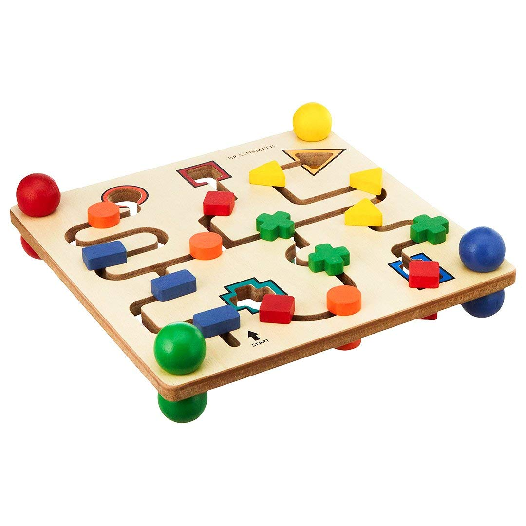 6 Round Puzzle Nirvana Class Handmade Wooden Game Labyrinth Handcrafted in India
