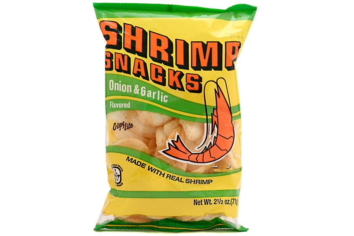 Shrimp Snacks (Onion & Garlic Flavor) - (Pack of 1) by Marcopolo (Image #1)