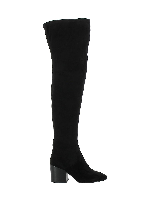 ASH WOMEN'S ELISA001 BLACK SUEDE BOOTS
