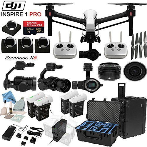 DJl-lnspire-1-Pro-Quadcopter-Drone-with-eDigitalUSA-Ultimate-Flight-Kit-Includes-2-Remotes-Go-Professional-Hard-Case-2x-TB47B-2x-TB48B-Batteries-with-Charging-Hub-4-Piece-Filter-Kit-and-more