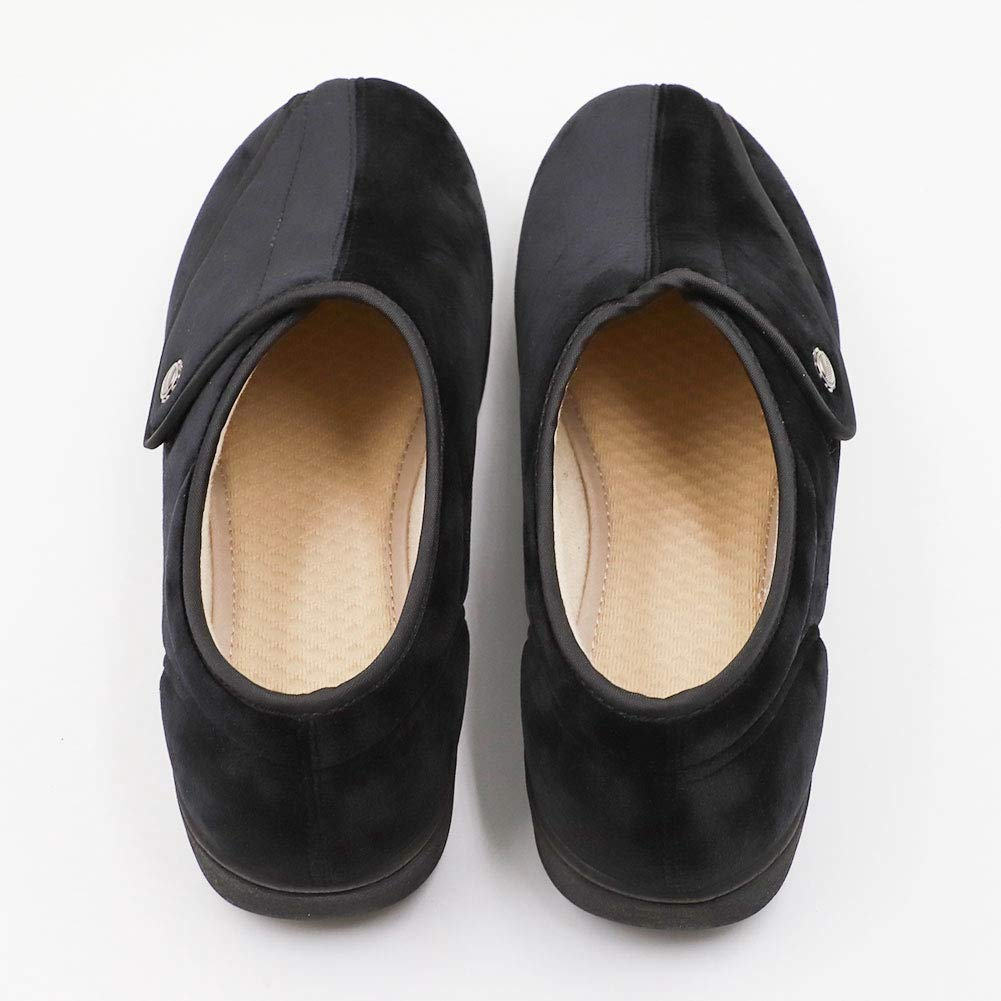 Womens Swollen Feet Adjustable Slippers Diabetics Comfortable Light Weight Soft Walking Shoes Sturdy Sole for Mother Elderly Diabetes