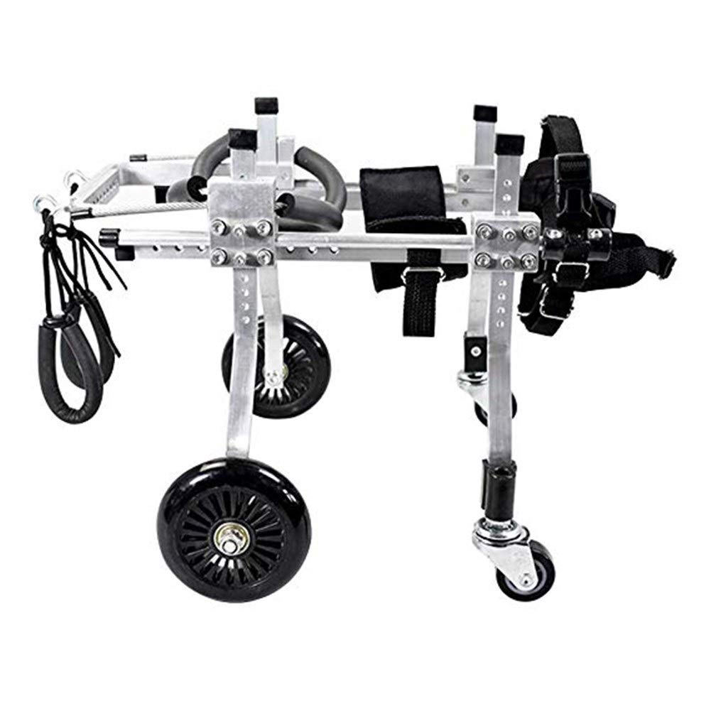 LMCWLY Dog Wheelchair, Pet Wheelchair Aluminum Alloy Dog Scooter, Disabled Dog Assisted Hind Leg Rehabilitation Training Scooter, Pulley Bracket (Size : XS)