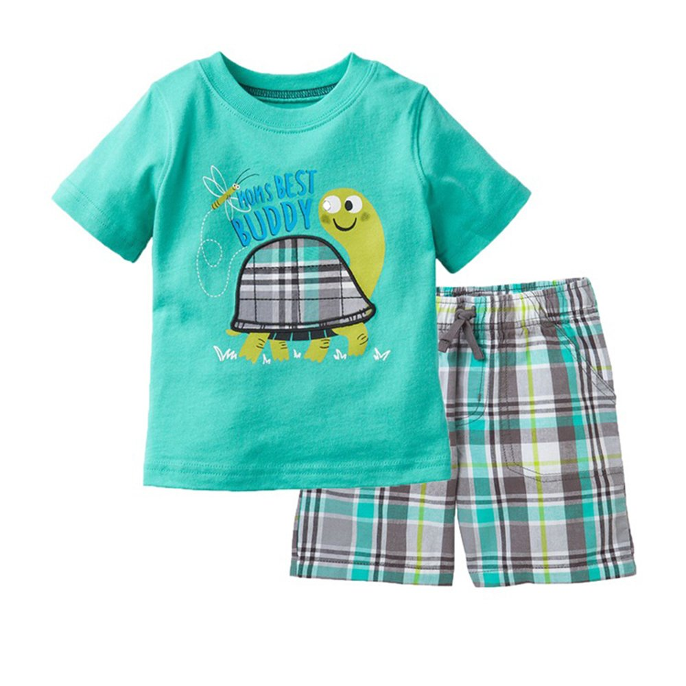 ee886bef1e11 Amazon.com: Baby Box Baby boys' Short Sleeve Infant Clothing Set T-shirt +  Short pants: Clothing