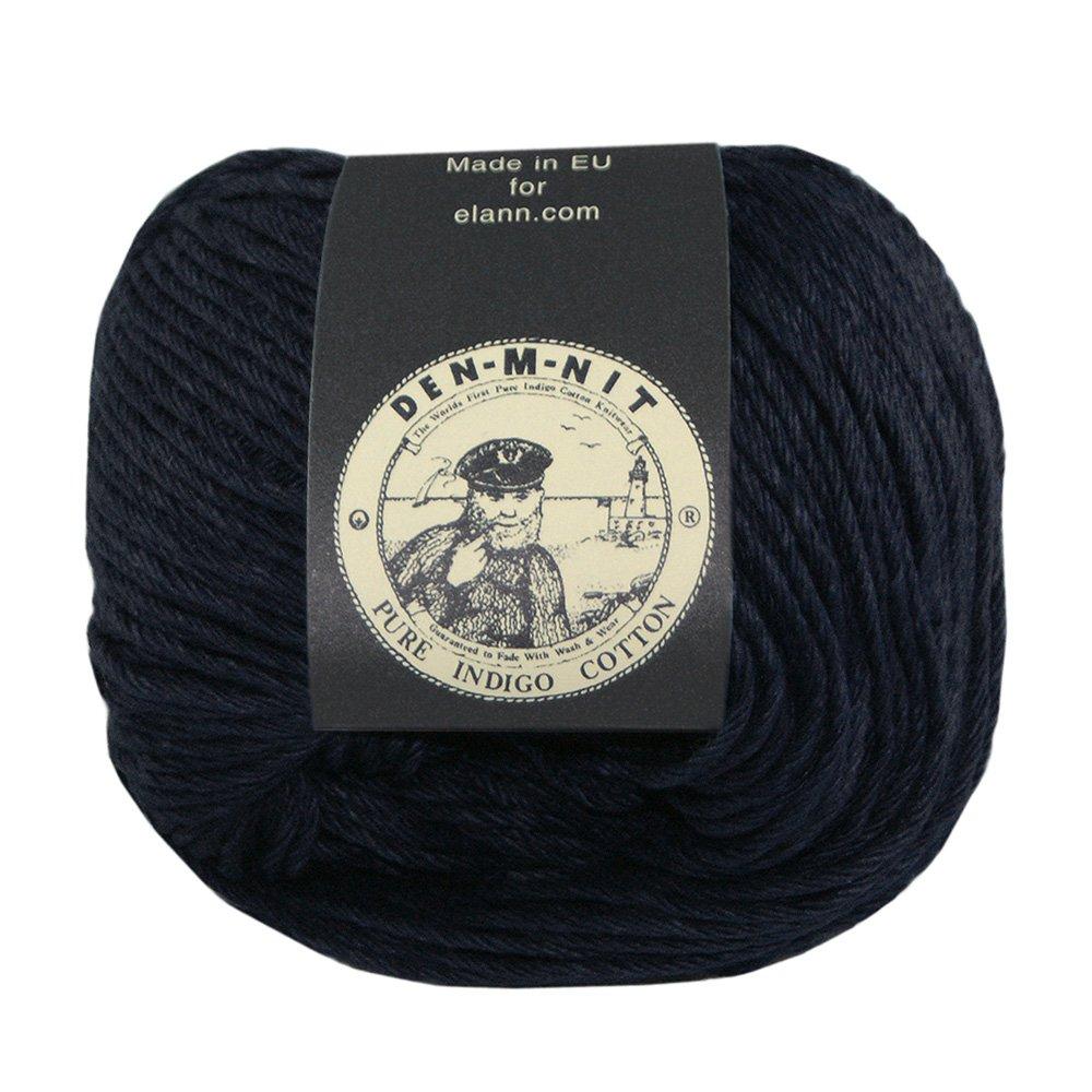 elann Den-M-Nit Yarn   10 Ball Bag   Black Indigo