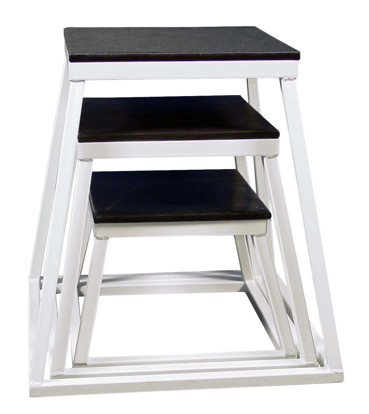 Plyometric Platform Box Set- 12'',18'',24'' White