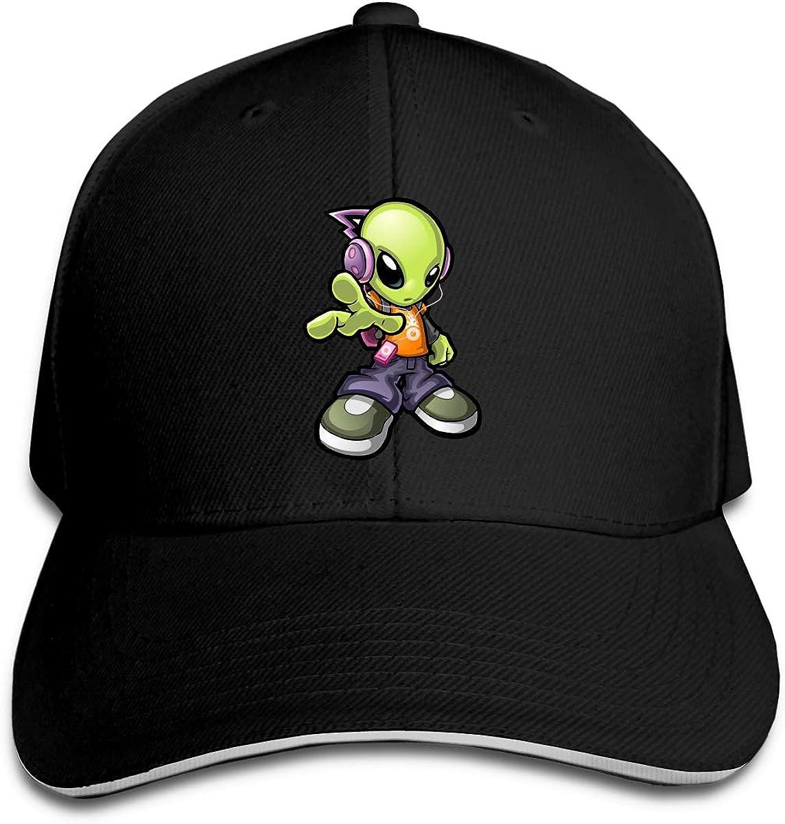 Alien Peace Classic Adjustable Cotton Baseball Caps Trucker Driver Hat Outdoor Cap Black