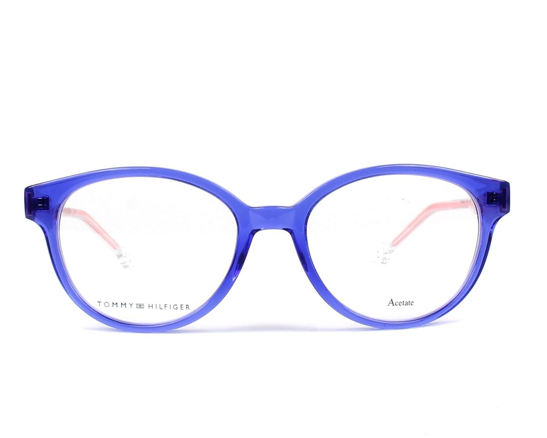 78d3c33607e Tommy Hilfiger Women s Prescription Eyewear Frame Blue Bleu Transparent - Cristal  Transparent 14  Amazon.co.uk  Clothing