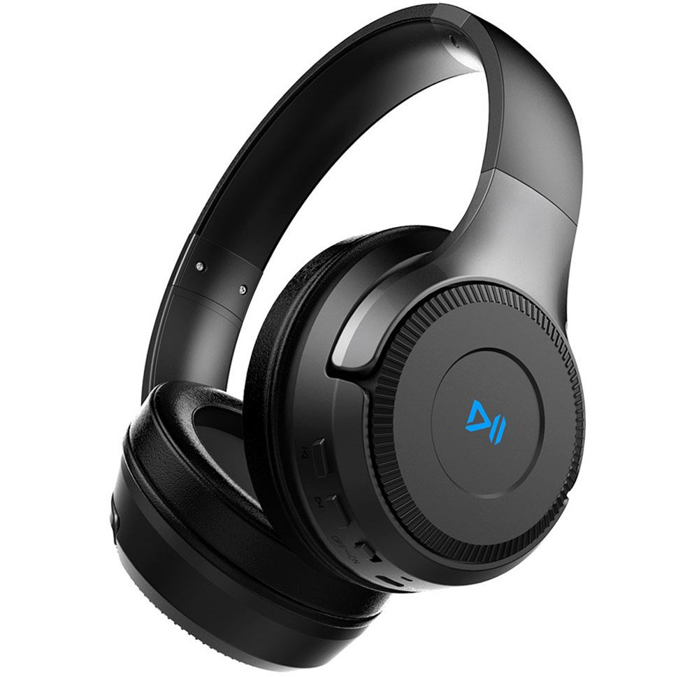 Zealot Auriculares HiFi estéreo inalámbricos con Bluetooth en la oreja, plegables, con control táctil, tarjeta TF, auriculares con micrófono, ...