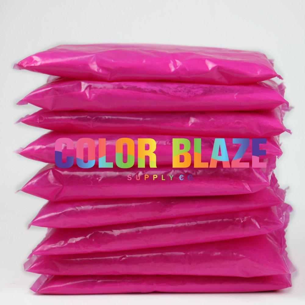 Gender Reveal Pink Color Powder Packets - Set of 10